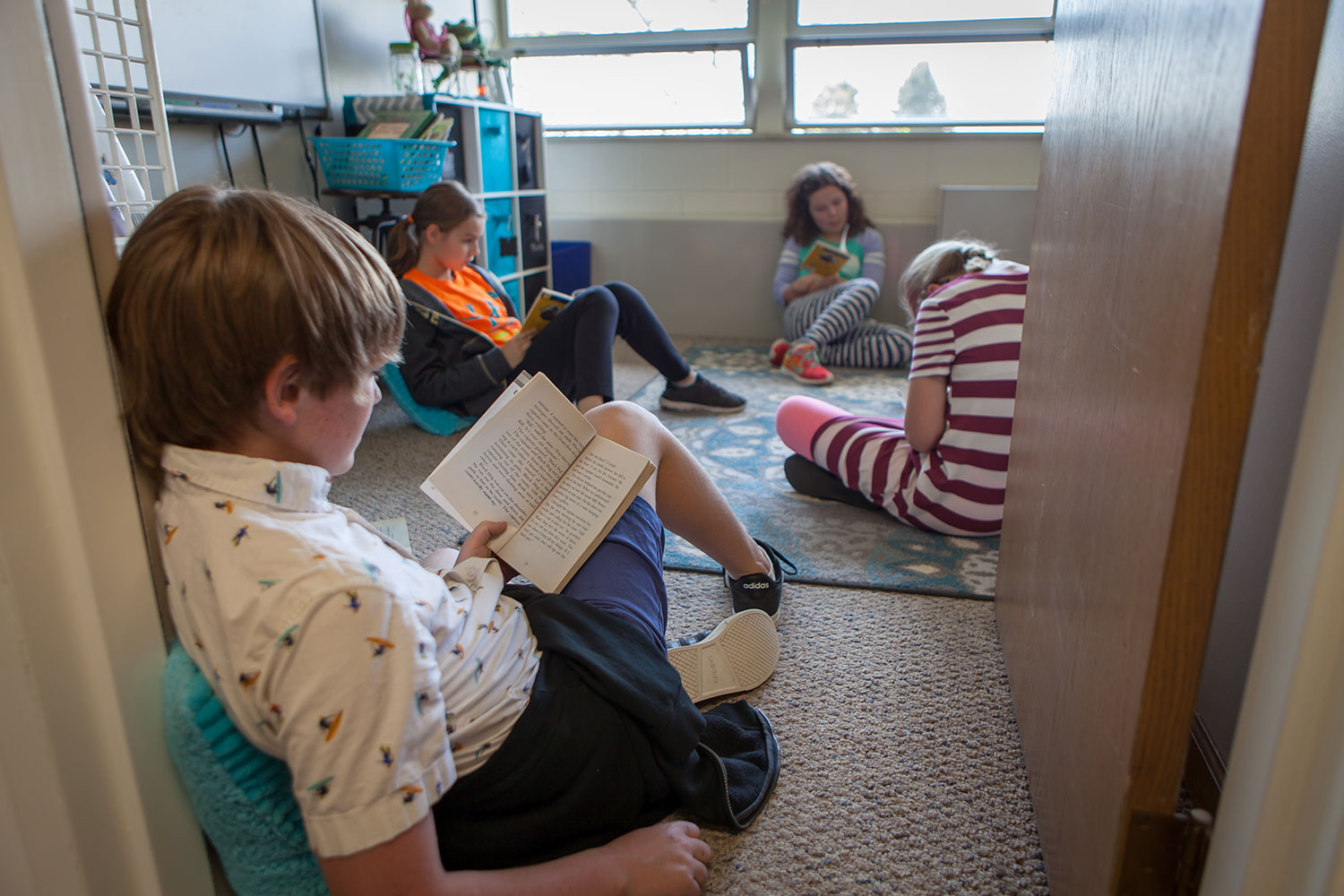 Dyslexia Student Reading in Classroom
